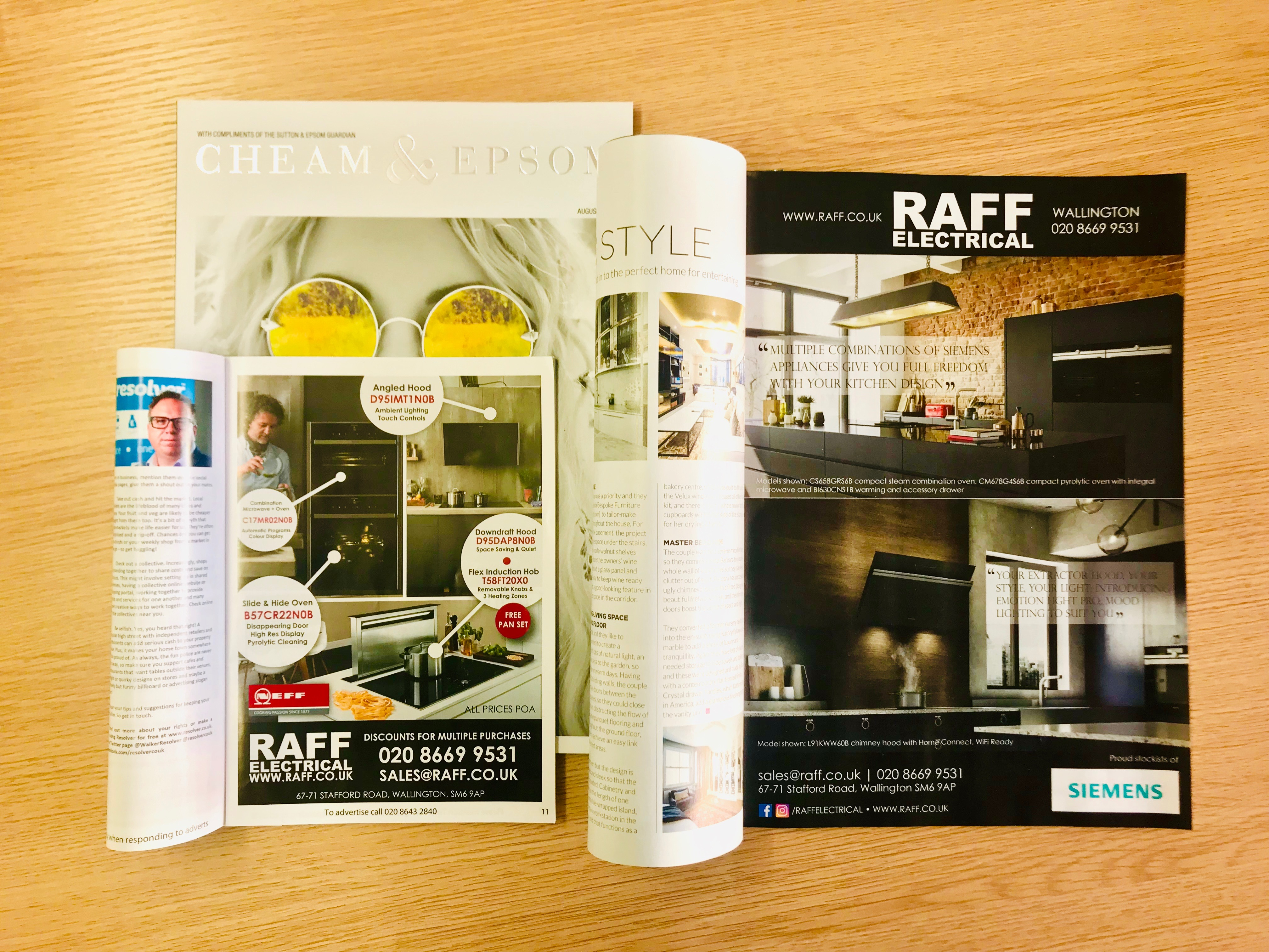 Print Advertising for Raff Electrical